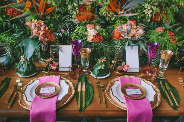 Stylish Tropical Wedding Inspiration