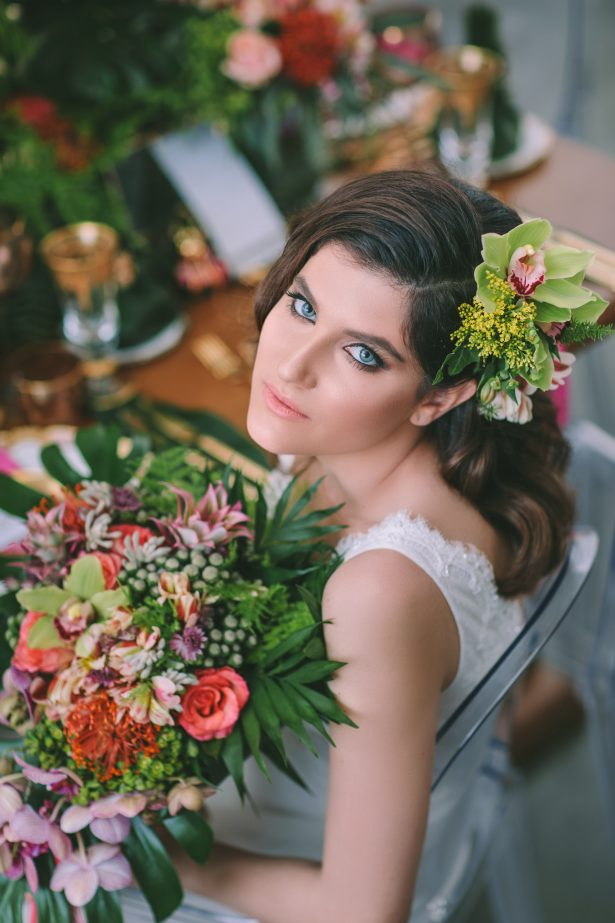 Stylish Tropical Bridal Look - George Pahountis Photographer