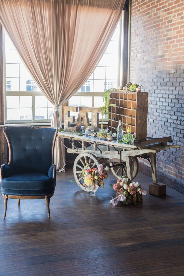 Vintage Wedding Inspiration in an Industrial Space - Photography: Szu Designs, Inc