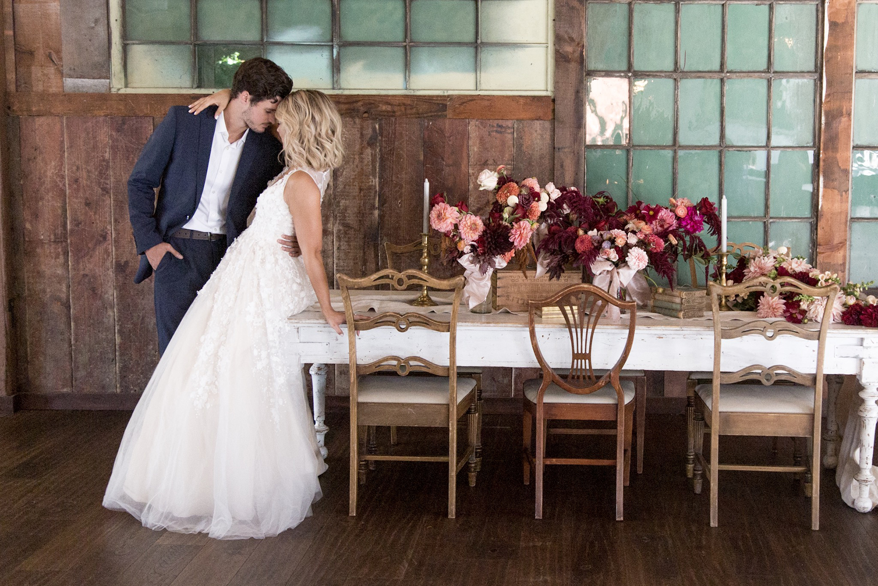 Vintage Wedding Style in an Industrial Space - Photography: Szu Designs, Inc