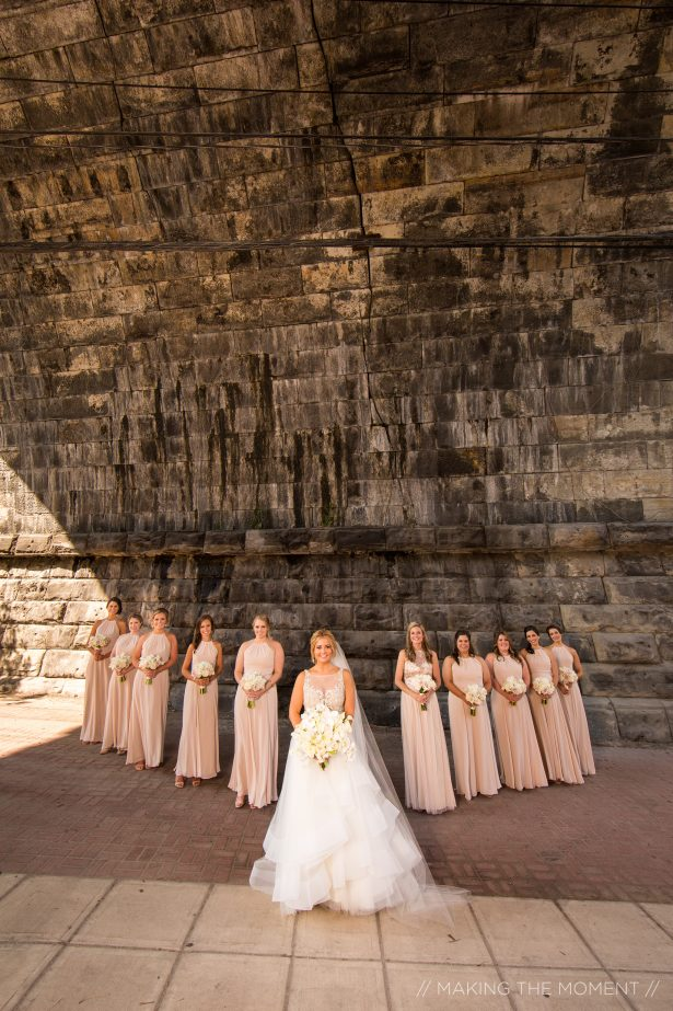 Long blush bridesmaid dresses - Photography: Making the Moment
