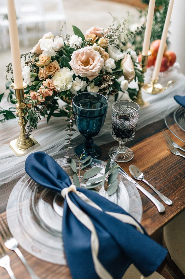 Organic wedding tablescape details - Amanda Meg Photography