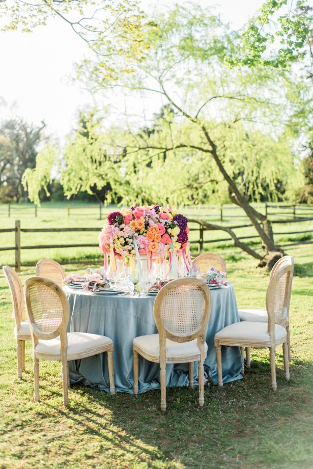 Bright and Colorful Wedding Tablescape - Photography: Michelle Lynn Weddings