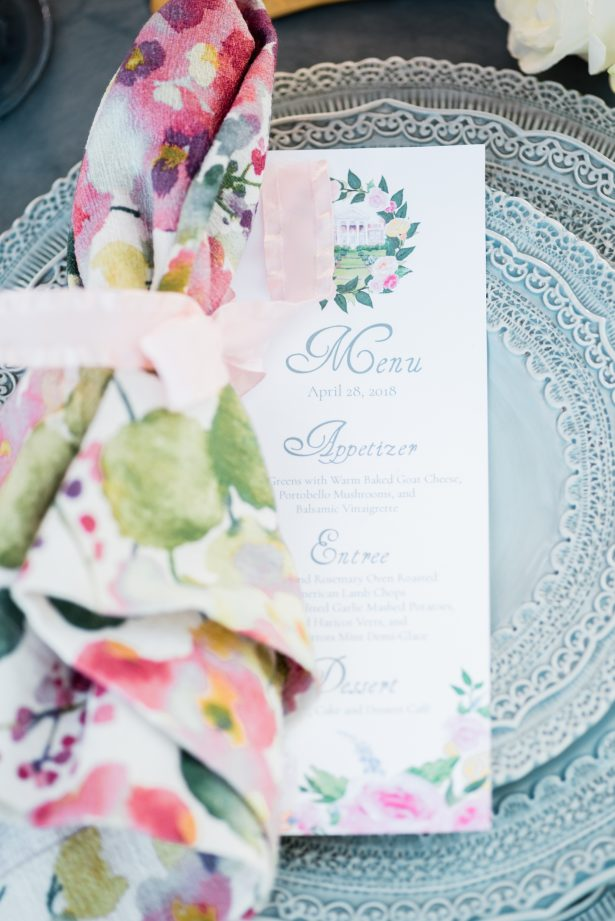 Wedding Place setting - Photography: Michelle Lynn Weddings