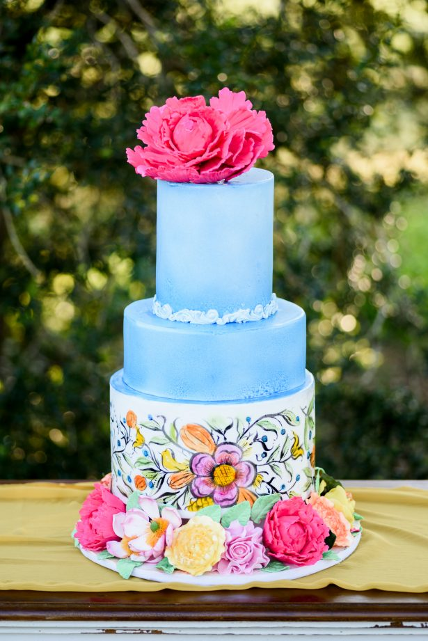Bright and Colorful Wedding Cake - Photography: Michelle Lynn Weddings
