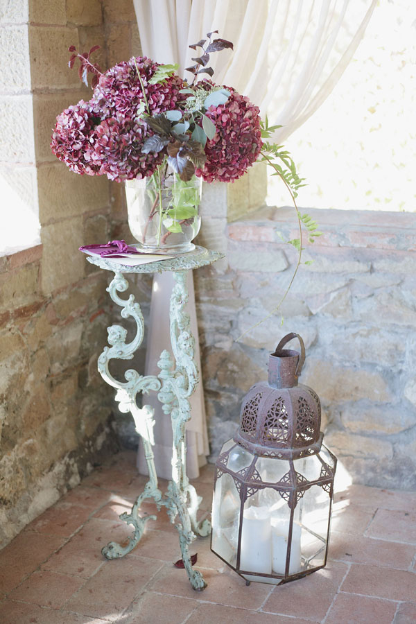 Wedding ceremony flowers and lantern - Purewhite Photography
