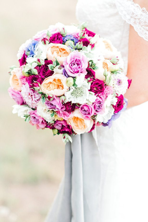 Colorful classic wedding bouquet - Lauryn Kay Photography
