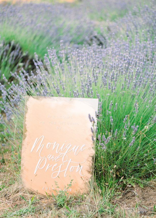 Acrylic and rose gold wedding sign - Lauryn Kay Photography