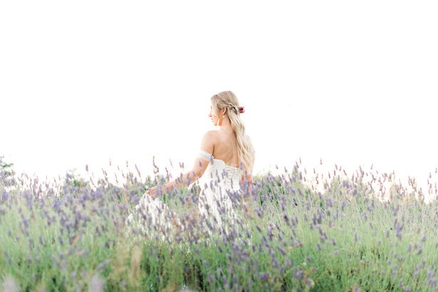 Romantic Wedding Inspiration in a Lavender Field