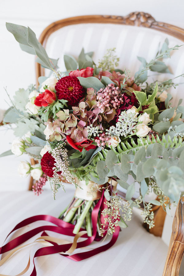 Red Wedding Bouquet - Purewhite Photography