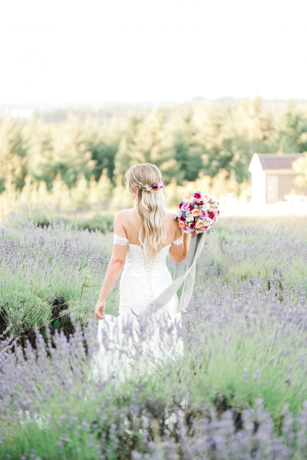 Romantic Wedding Inspiration in a Lavender Field - Lauryn Kay Photography