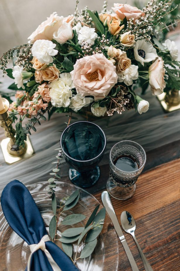 Organic wedding tablescape details- Amanda Meg Photography