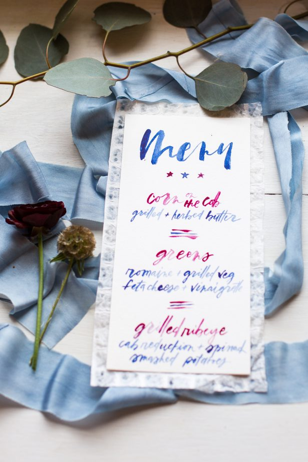 All-American Wedding Menu - Holley Elizabeth Photography