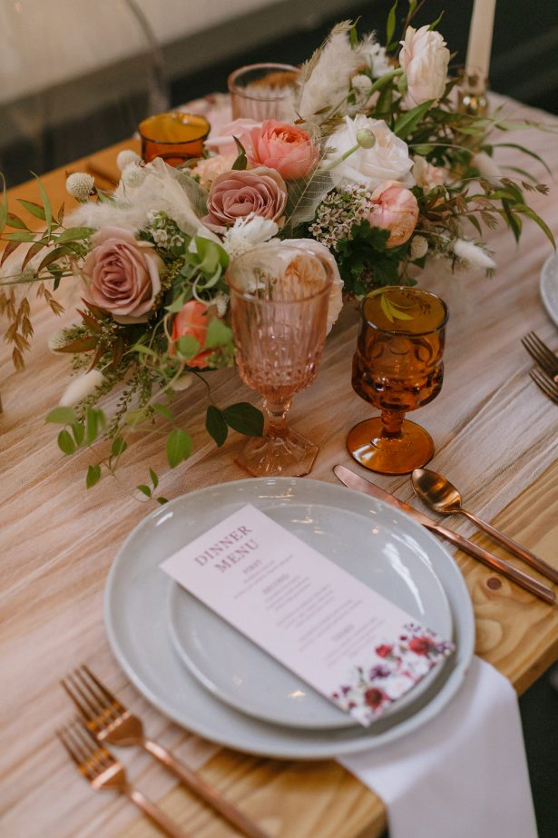 Fall Wedding centerpiece - Andrea Zajonc Photography