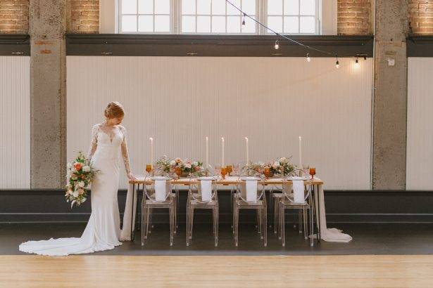 Fall Wedding Inspiration with Blush and Peach Details - Andrea Zajonc Photography