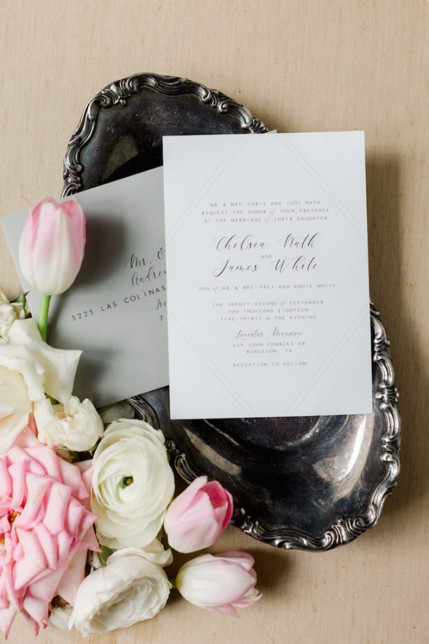 Classic wedding invitations- Krystle Akin Photography