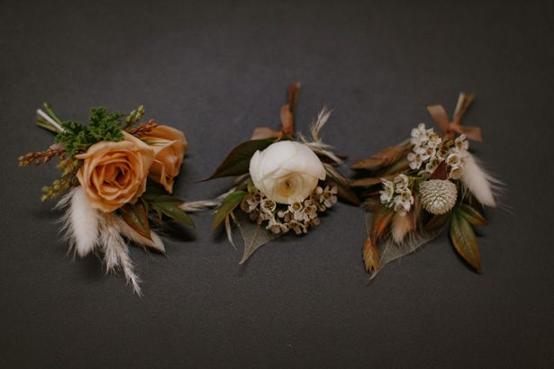 Fall wedding boutonnieres - Andrea Zajonc Photography