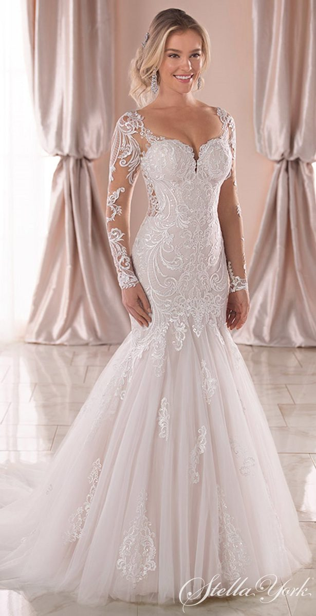Long sleeves wedding dress - Stella York Style 6852