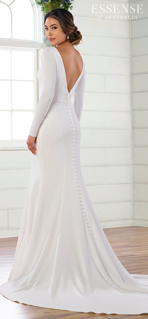 Long sleeves wedding dress - Essense of Australia Style D2972