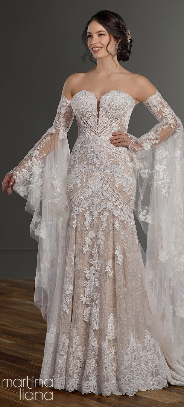 Long sleeves wedding dresses -Martina Liana Style 1147