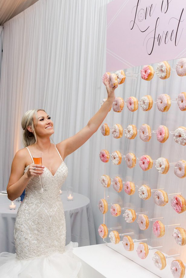 Wedding Donut wall - Krystle Akin Photography