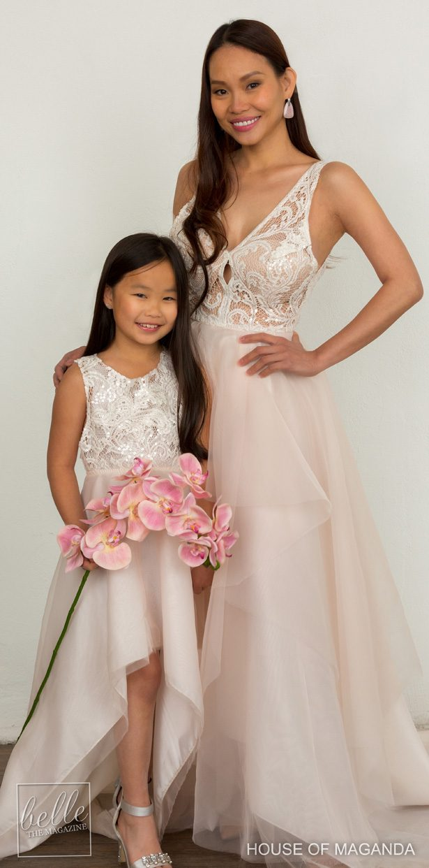 Wedding dress and flower girl dress by House of Maganda -TinaDwyer Photography 9