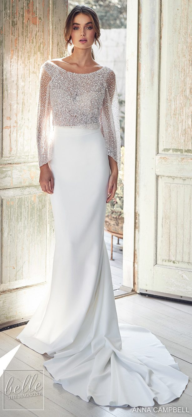 Anna Campbell 2020 Wedding Dress Lumiére Bridal Collection - Anna Campbell 2020 Wedding Dress Lumiére Bridal Collection - Bridget Topper with Darcy Separate Skirt