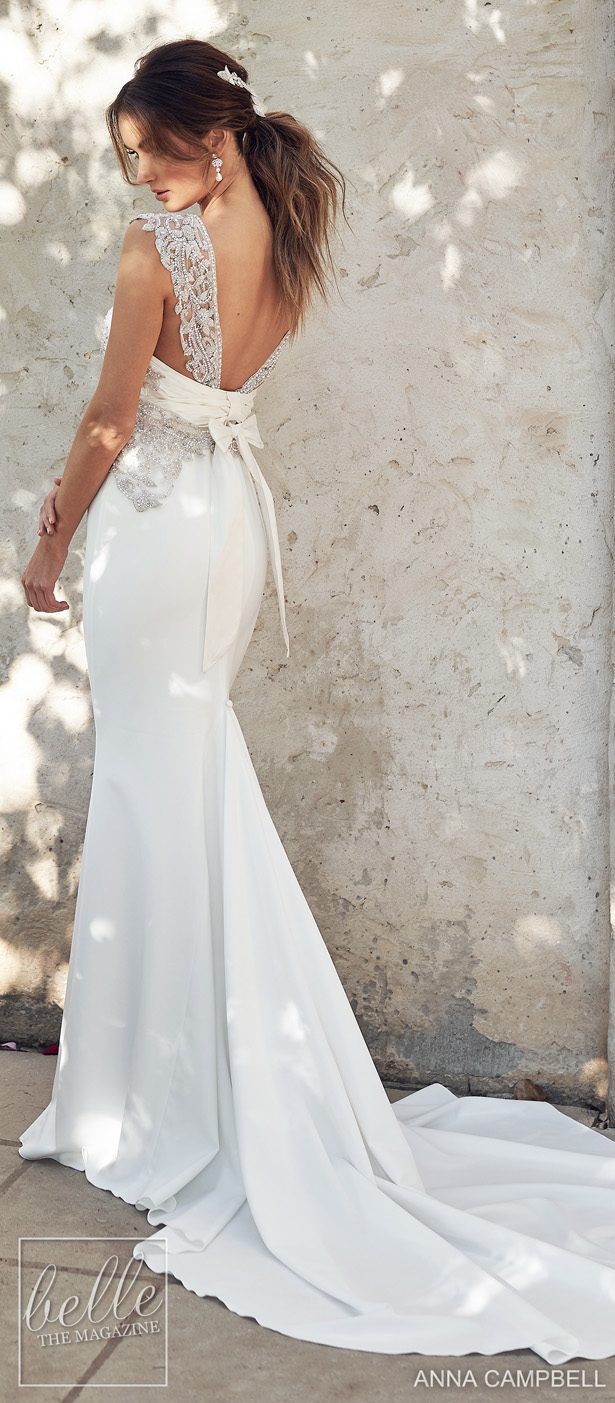 Anna Campbell 2020 Wedding Dress Lumiére Bridal Collection - Athena Crepe