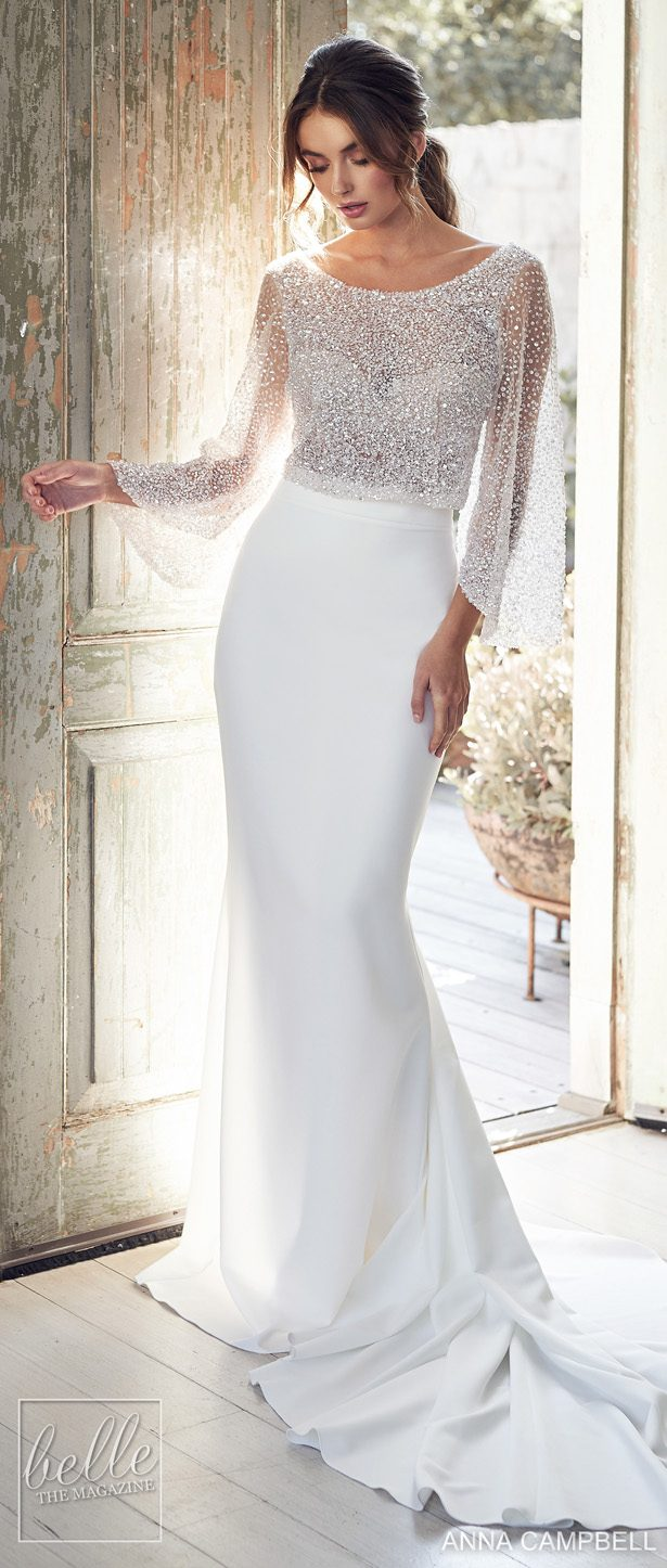 Anna Campbell 2020 Wedding Dress Lumiére Bridal Collection - Bridget Topper with Darcy Separate Skirt