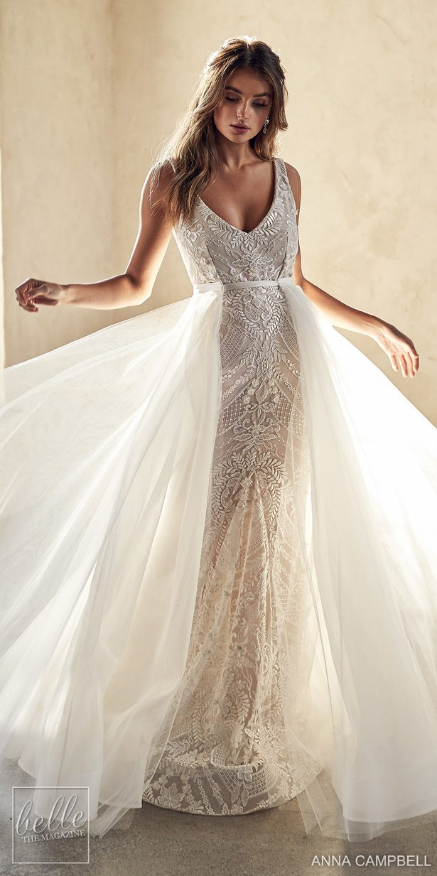 Anna Campbell 2020 Wedding Dress Lumiére Bridal Collection - Lexi Trumpet with Magnolia Overskirt
