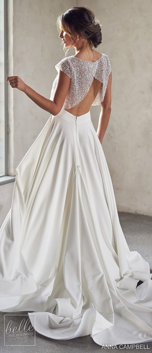 Anna Campbell 2020 Wedding Dress Lumiére Bridal Collection - Meadow Topper with Ava Separate Skirt