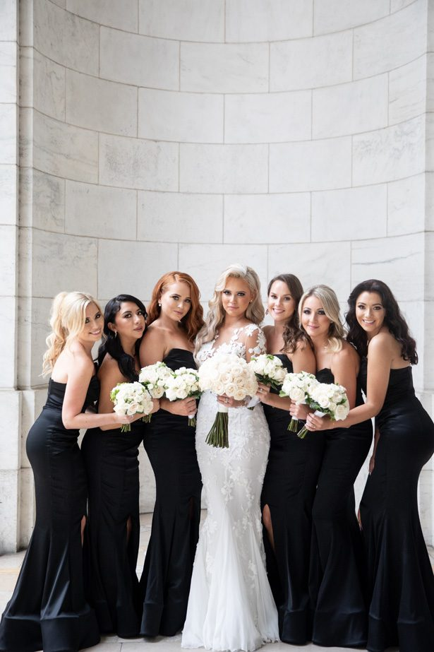 Black bridesmaid dresses- Rafal Ostrowski Photography