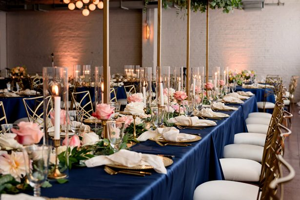 A Timeless Blue Wedding with Modern Pink Touches