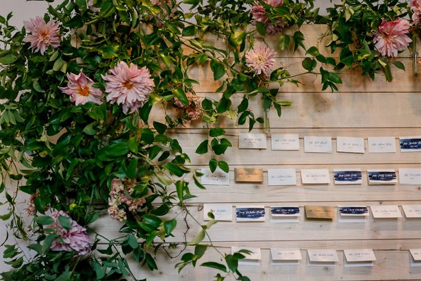 Escort card display - Jenny DeMarco Photography