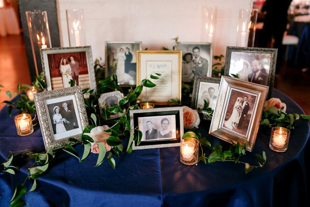 Love ones picture display for wedding - Jenny DeMarco Photography