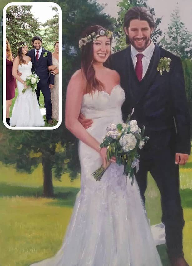 Make Your Wedding Photos Into Paintings - Portrait Flip
