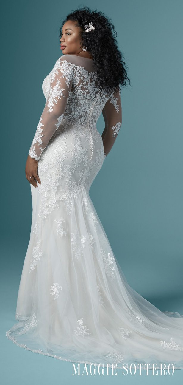 Plus Size Wedding Dress by Maggie Sottero - Chevelle Lynette