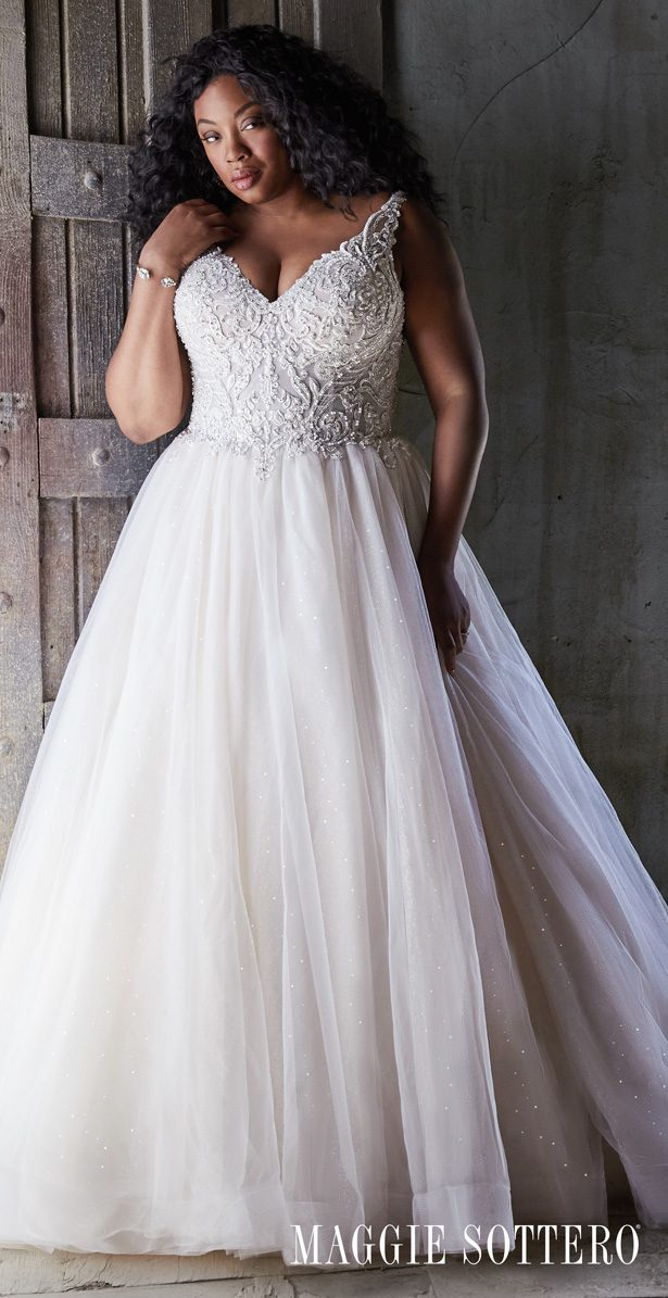 Plus Size Wedding Dress by Maggie Sottero - Taylor Lynette