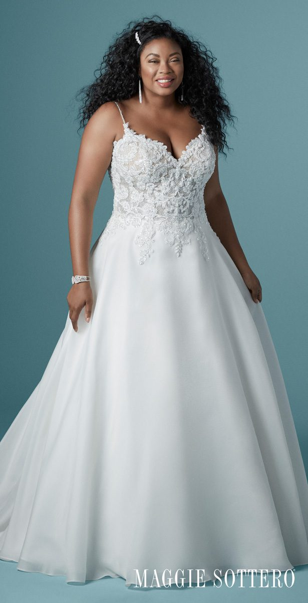 Plus Size Wedding Dress by Maggie Sottero - Savannah