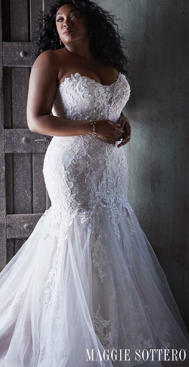 Plus Size Wedding Dress by Maggie Sottero - Lonnie Lynette