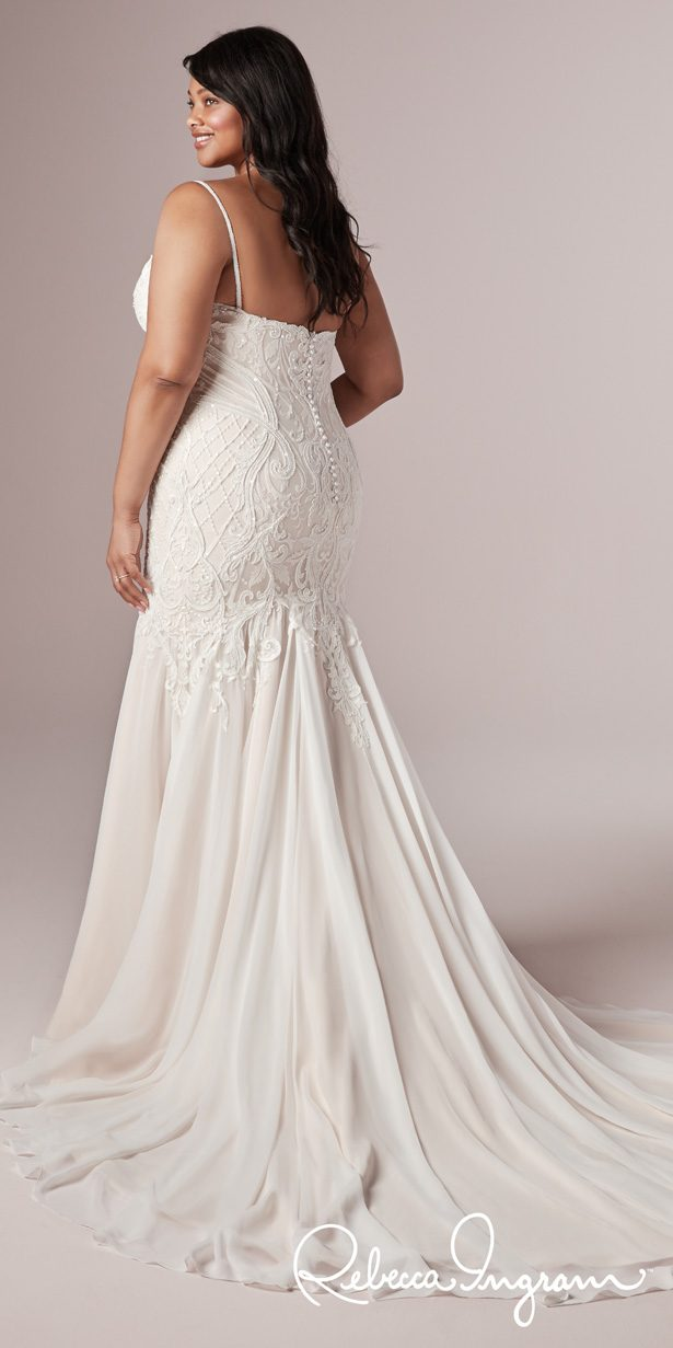Plus Size Wedding Dress by Rebecca Ingram - Corrine