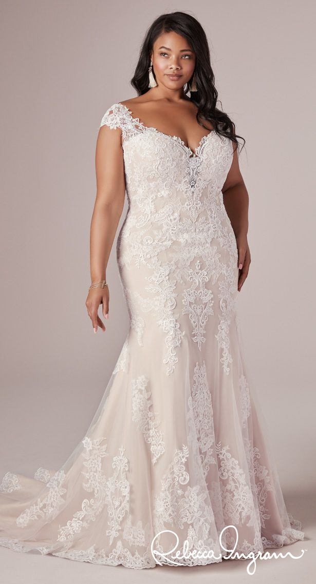 Plus Size Wedding Dress by Rebecca Ingram - Daphne Lynette