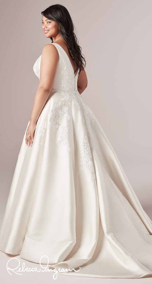 Plus Size Wedding Dress by Rebecca Ingram - Valerie Lynette