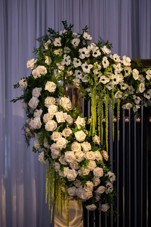 White and green wedding flowers and decor - Rafal Ostrowski Photography