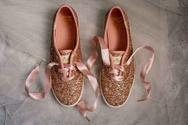 Rose Gold Wedding Keds - Jenny DeMarco Photography