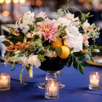Short wedding centerpiece - Jenny DeMarco Photography