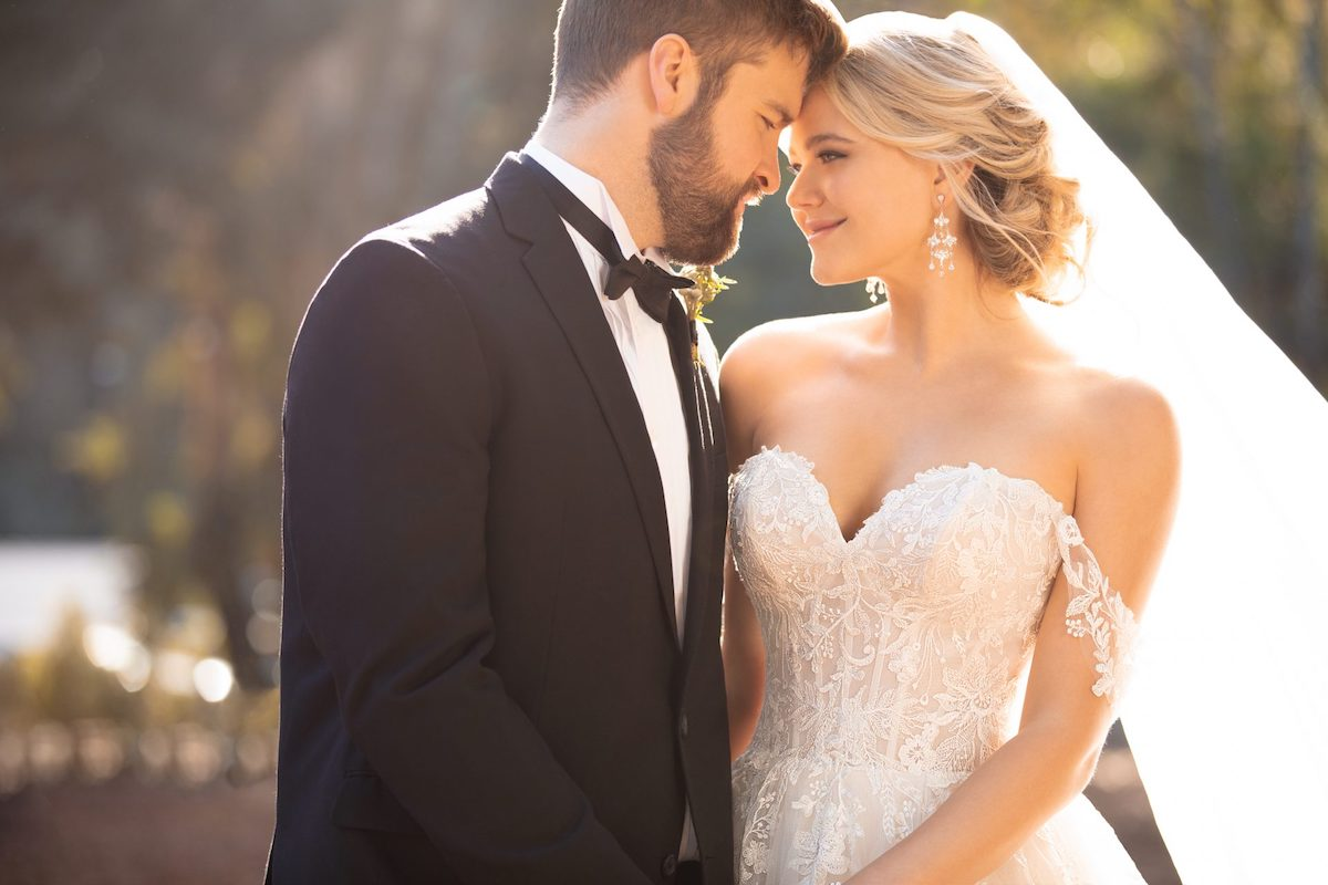 Wedding Dresses with Sleeves by Essense of Australia Fall 2019 - D2953