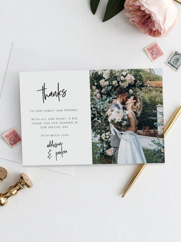 Wedding thank you cards from Etsy