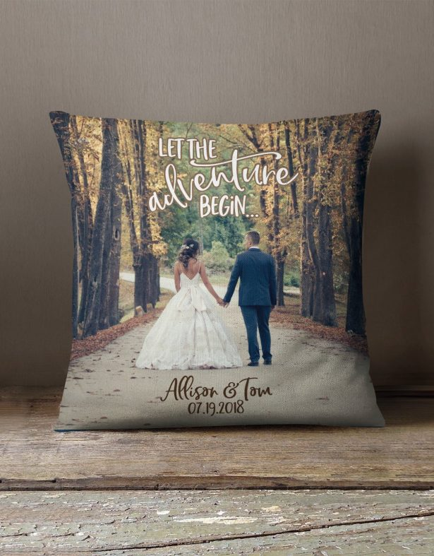 wedding photo gifts - pillow