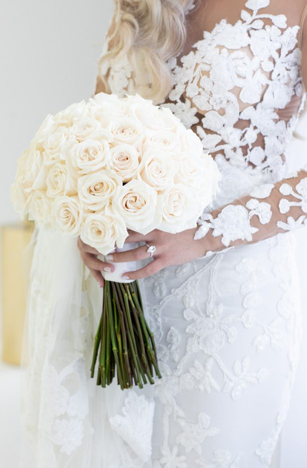 white rose wedding bouquet - Rafal Ostrowski